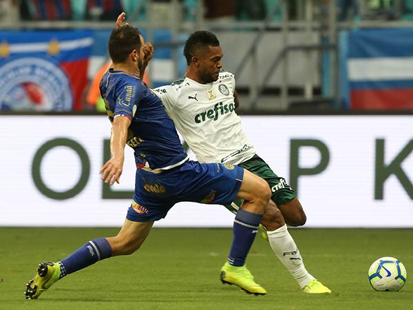 Em 2019, camisa 9 do Verdão marcou seis gols. Foto: Cesar Greco/Ag Palmeiras/Divulgação