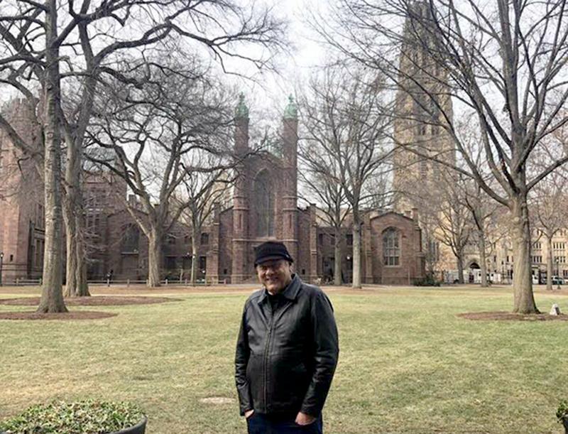 O jornalista, em férias, visitou a tradicional instituição de ensino norte-americana