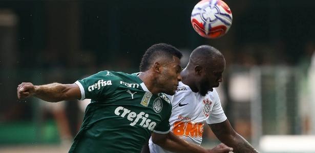 Jogadores do Palmeiras durante treinamento neste sábado (9)