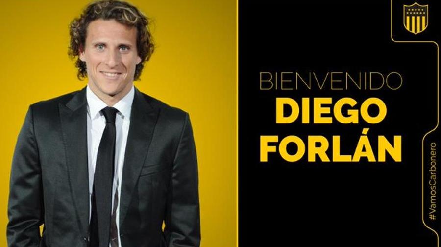 Diego Forlán estreará na função pelo clube uruguaio. Imagem: Reprodução/Twitter