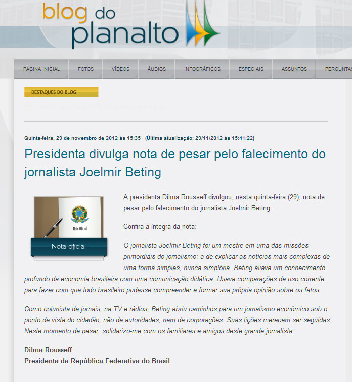 blog joelmir betting jornalista sandra