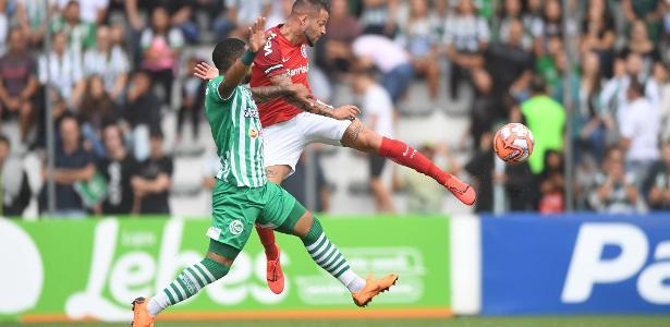 Nico López, durante jogo entre Inter e Juventude