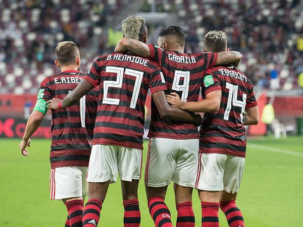 Bruno Henrique, Gabigol e Arrascaeta disputarão o prêmio de melhor jogador do continente. Foto: Alexandre Vidal / Flamengo