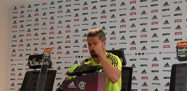 O meia foi o primeiro jogador do Flamengo a falar sobre a tragédia. Foto: Vinicius Castro/UOL