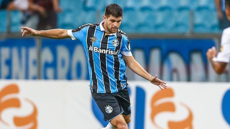 Titular do time gaúcho pode se transferir para a Europa. Foto: site oficial do Grêmio/Divulgação