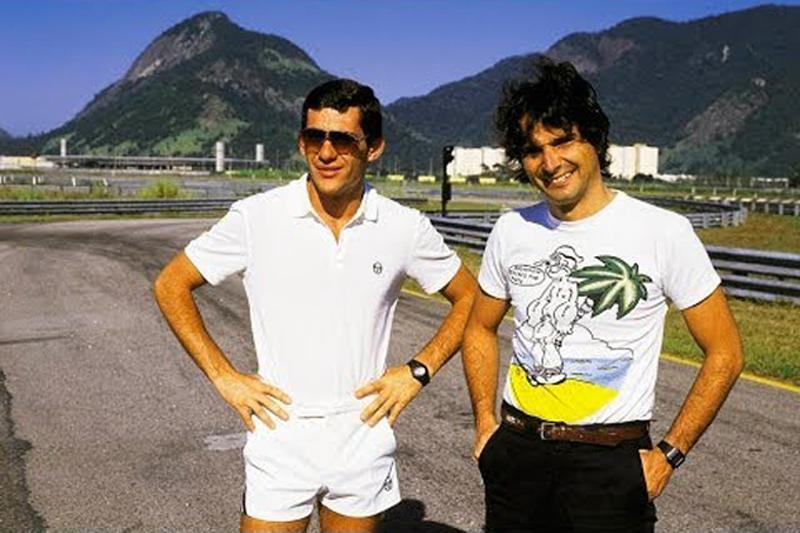 O extinto circuito carioca recebia pilotos e equipes, entre eles Senna (Lotus) e Piquet (Williams). Foto: Reprodução