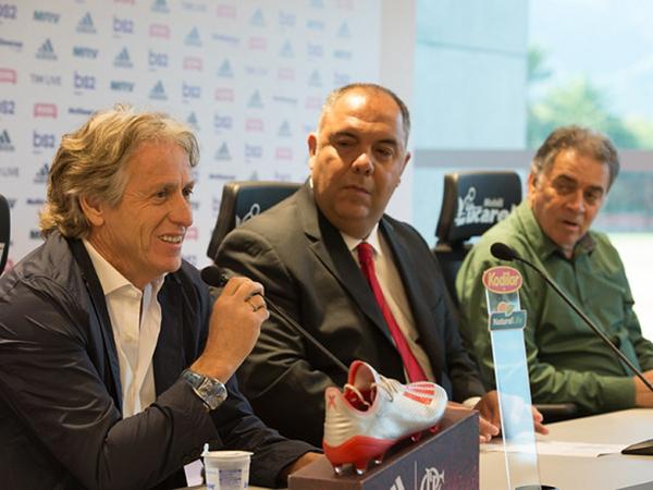 Marcos Braz afirmou que não consulta Jesus sobre questões financeiras no Mengão. Foto: Alexandre Vidal / Flamengo