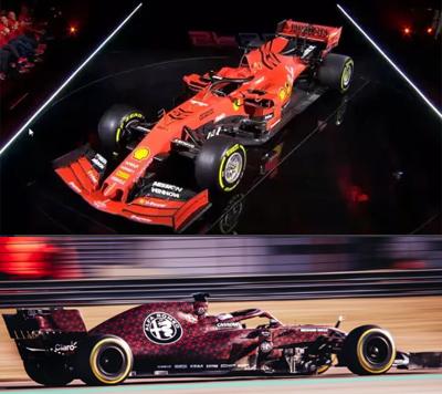 Ferrari e Alfa Romeo seguem exemplo de Red Bull e Toro Rosso. Fotos: Divulgação