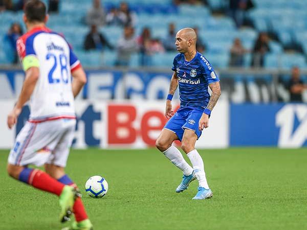 Atacante marcou apenas 7 gols com a camisa do Tricolor. Foto: Lucas Uebel/Grêmio FBPA