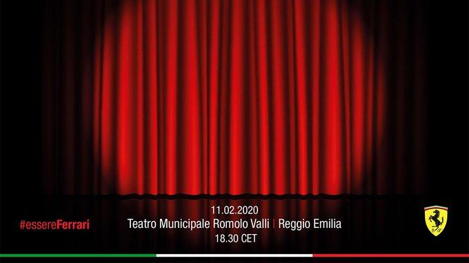 Novo carro será apresentado em um teatro italiano. Foto: Scuderia Ferrari/Divulgação
