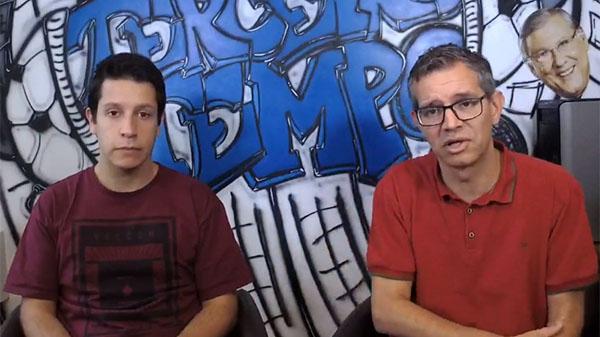 Lucas Reis e Frank Fortes durante a Live do Terceiro Tempo. Foto: Reprodução