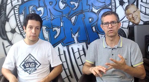 Lucas Reis e Frank Fortes discutem sobre os jogos do Campeonato Paulista. Foto: Reprodução/Facebook