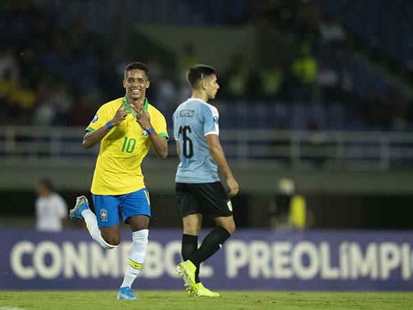 Revelado no Timão, o meia-atacante está na disputa do pré-olímpico com o Brasil. Foto: Lucas Figueiredo/CBF