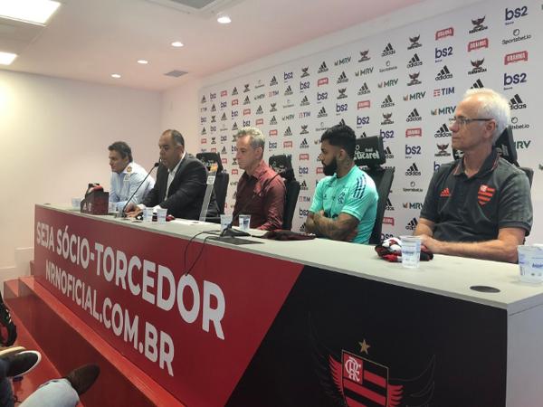 O atacante renovou o vínculo com o Rubro-Negro até 2024. Foto: Flamengo