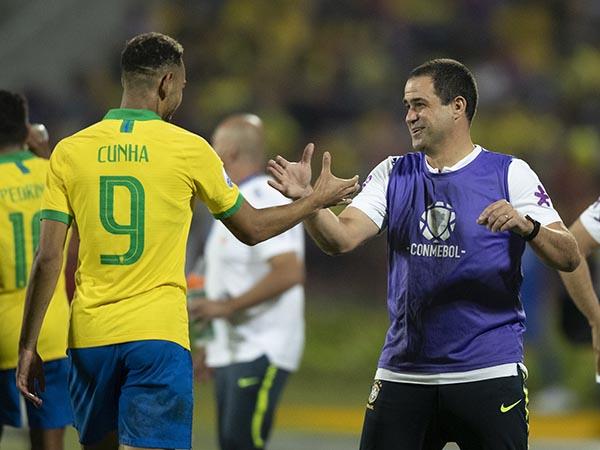 Seleção sub-23 conseguiu vaga em Tóquio após vitória sobre a Argentina. Lucas Figueiredo/CBF