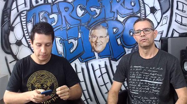 Lucas Reis e Frank Fortes transmitem a Live nas plataformas digitais do Terceiro Tempo. Foto: Reprodução/Facebook
