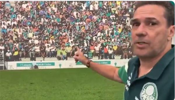 Vídeo do treinador faz parte de tentativa da diretoria de recuperar sócios-torcedores. Foto: Reprodução/Twitter
