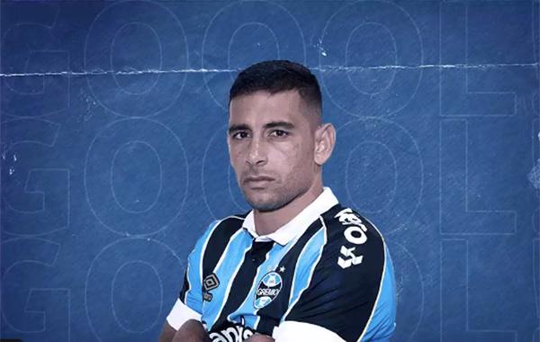 Diego Souza marcou aos 46 do segundo tempo. Foto: Reprodução/Twitter Grêmio