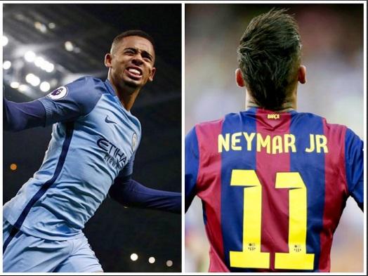 Dupla brasileira brilha na europa e fomenta enquetes de quem seria melhor. Sou mais Neymar, que já é um fora de série. Menino Gabriel Jesus empolga o Mahcnester City de Pep Guardiola, mas é ainda apenas um candidato a craque