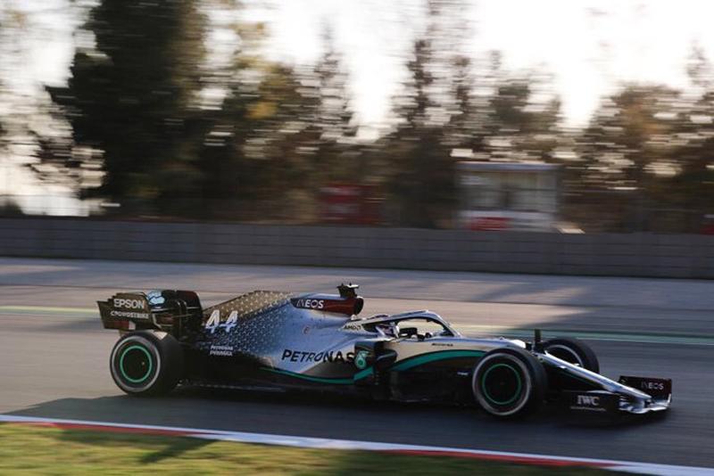 O hexacampeão foi o melhor na abertura de trabalhos na Espanha. Foto: Mercedes-AMG F1