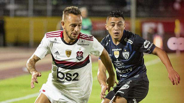 Equipes se enfrentaram pelo primeiro jogo da decisão da Recopa Sul-Americana. Foto: Twitter oficial do Flamengo