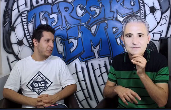 """Lucas Reis e Frank """"Tite"""" Fortes durante a Live. Foto: Reprodução/Facebook"""