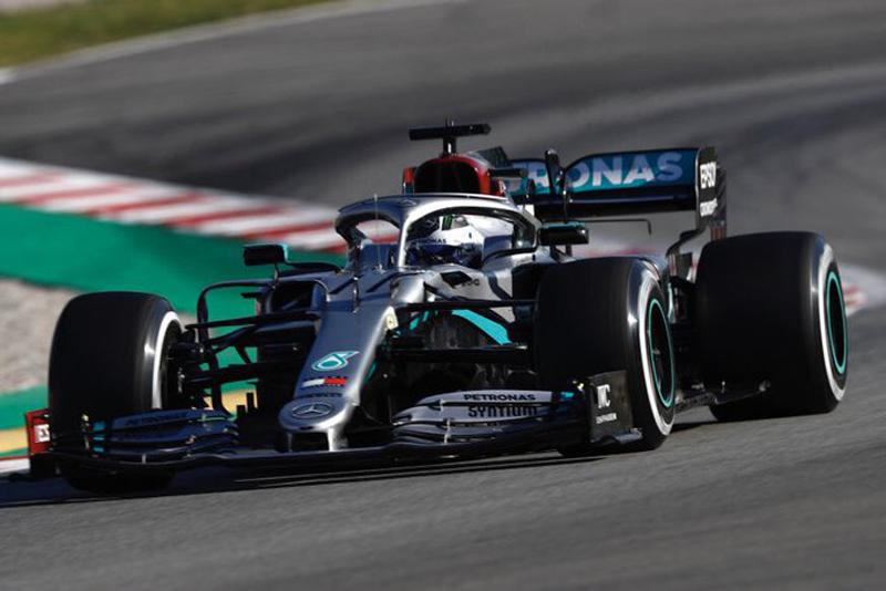 Bottas fez o melhor tempo, seguido por Hamilton. Foto: Mercedes-AMG F1