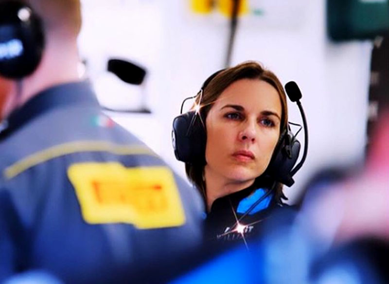 Claire Williams poderá ter um 2020 mais feliz. Foto: ROKiT Williams Racing