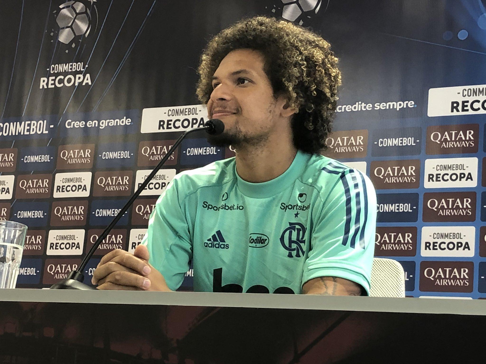 Volante flamenguista disse que o time está acostumado com momentos decisivos. Foto: Twitter/Divulgação