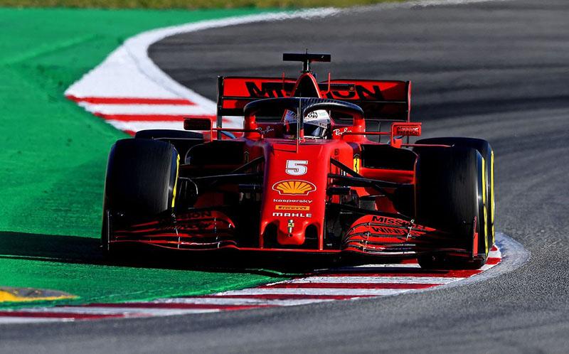 Equipe italiana ponteou pela primeira vez na pré-temporada. Foto: Scuderia Ferrari