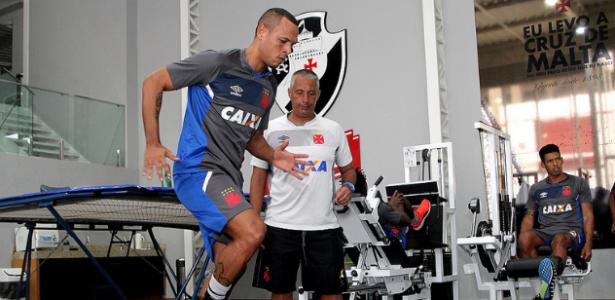 Luis Fabiano luta para voltar aos campos após seguidos problemas no joelho. Foto: Paulo Fernandes/Vasco