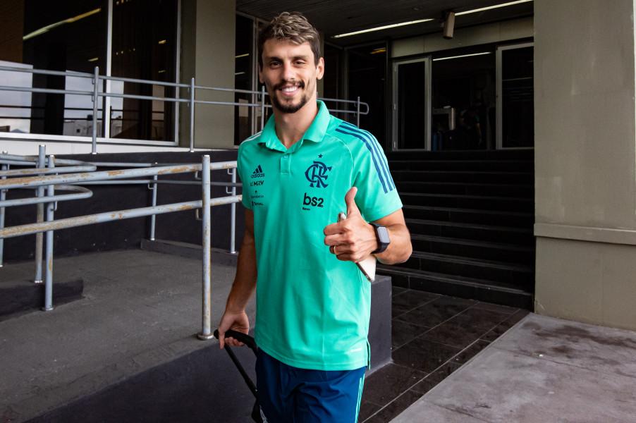 Zagueiro do Mengão destacou torcer pelo sucesso dos clubes brasileiros. Foto: Alexandre Vidal / Flamengo