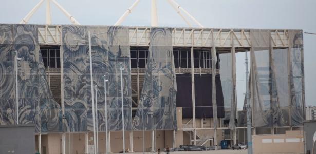 Estádio Aquático Olímpico em degradação após Rio-2016