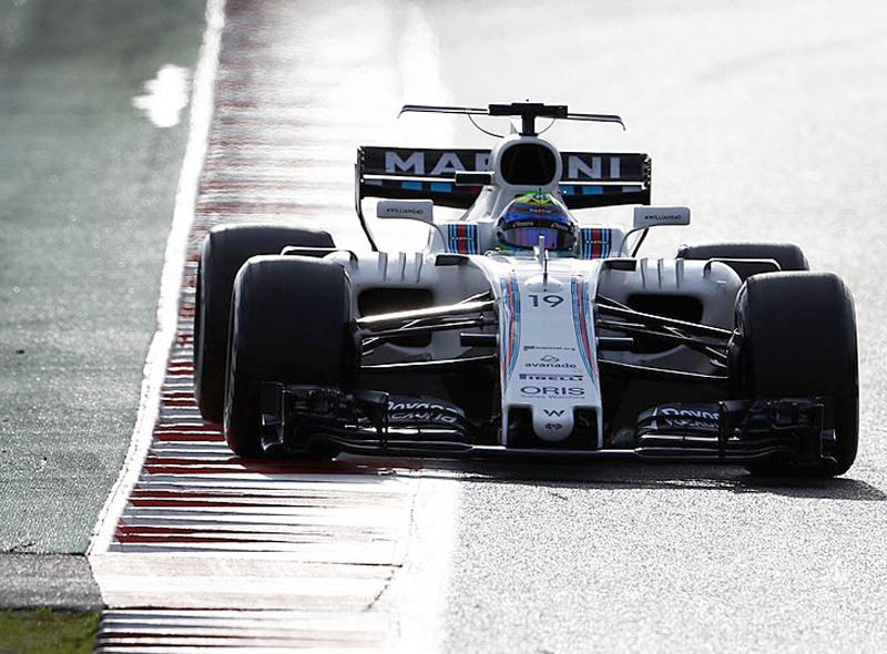 Brasileiro teve um dia produtivo com a Williams. Foto: Williams Racing