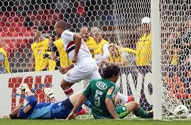 Paulo César de Oliveira foi um dos melhores em campo no passeio tricolor sobre o Palmeiras