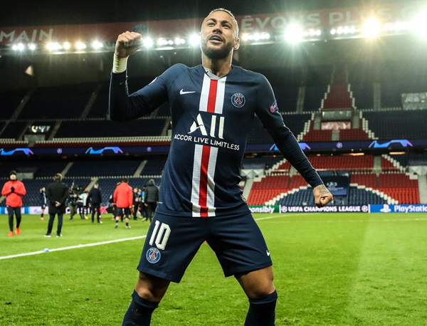 Neymar celebra classificação do PSG sem os torcedores; qual a graça? Foto: Divulgação / redes sociais PSG