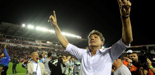 Renato Gaúcho lidera discurso que mantém apetite do Grêmio por conquistas. Foto: Agustin Marcarian/Reuters - via UOL