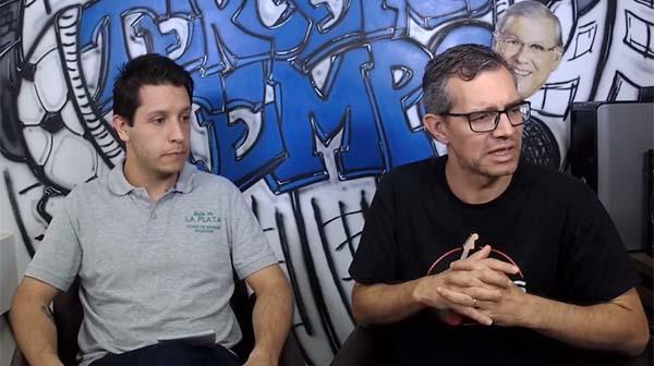 Lucas Reis e Frank Fortes durante a Live do Terceiro Tempo. Foto: Reprodução/Facebook