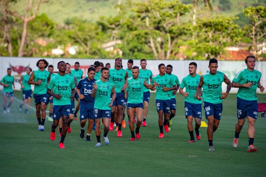 Atletas do elenco flamenguista foram submetidos a exames para identificar Covid-19. Foto: Alexandre Vidal/Flamengo