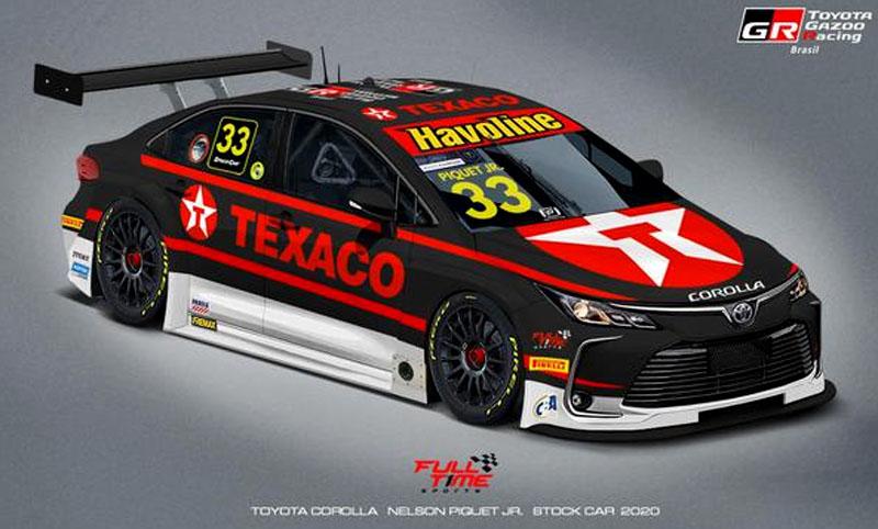 Texaco firmou nova parceria com o piloto. Imagem: Full Time Sports/Divulgação
