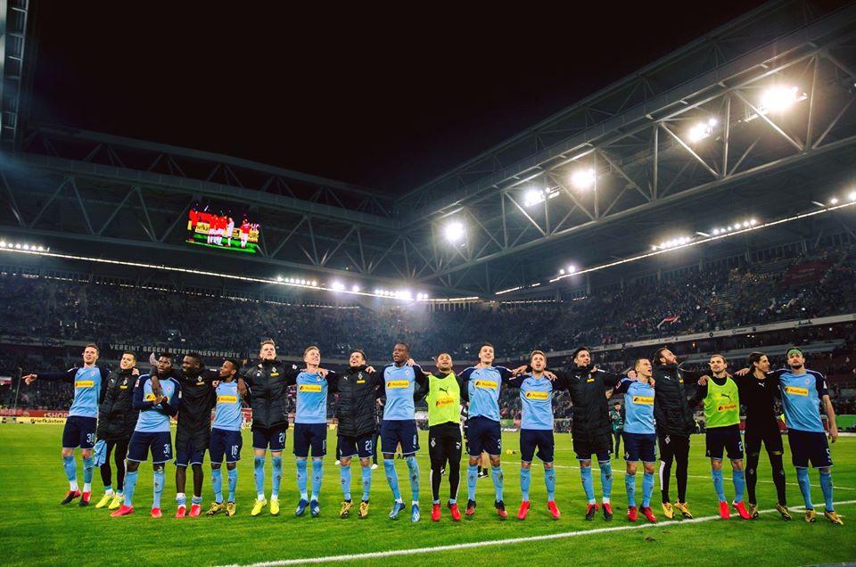 Atletas do Borussia Mönchengladbach mostraram solidariedade ao meio ao caos provocados pelo coronavírus. Foto: Facebook/Reprodução