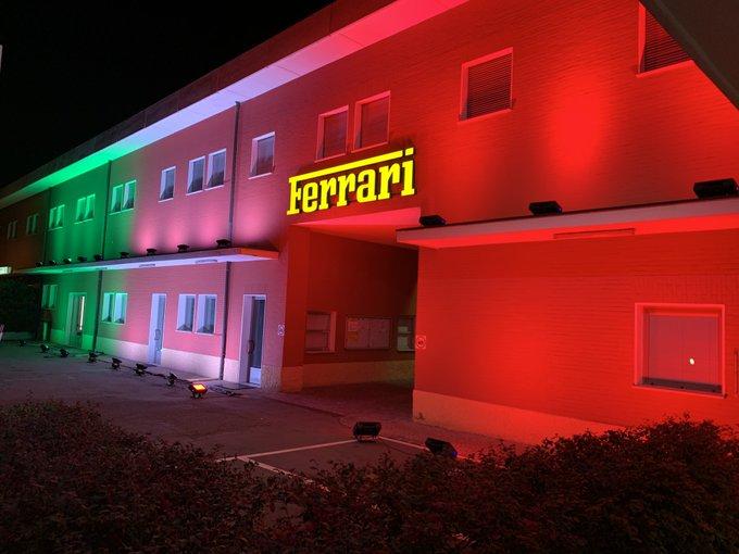 Sede da fabrica italiana, em Maranello, está fechada. Foto: Scuderia Ferrari