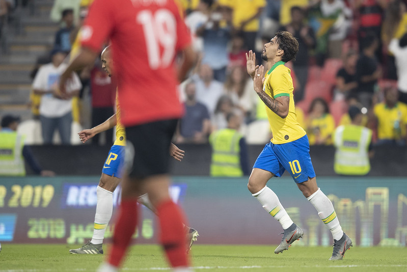 Lucas Paquetá seria um dos jogadores que perderiam a disputa por conta da idade após adiamento dos Jogos Olímpicos. Foto: Lucas Figueiredo/CBF