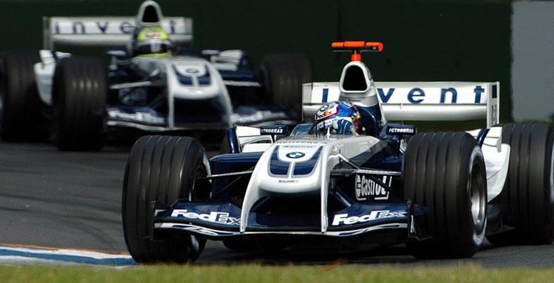 Williams de 2004 foi a última grande novidade, com seu aerofólio dianteiro em forma de `Prestobarba´. Foto: Divulgação