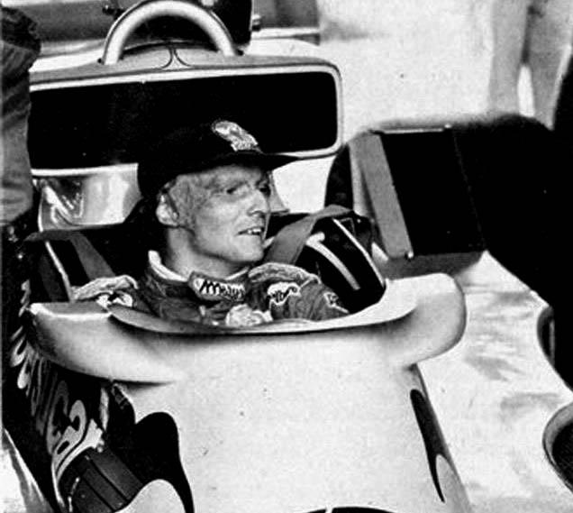 O saudoso austríaco no carro da equipe brasileira de F1. Foto: Reprodução