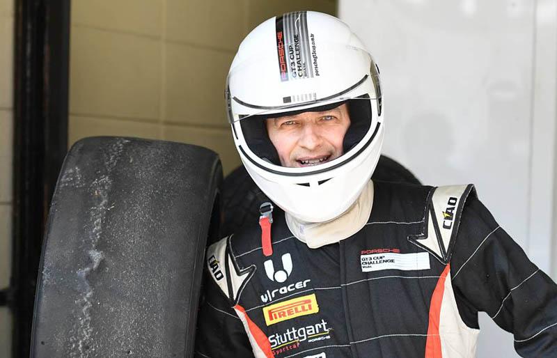 Em Interlagos, a emoção ao lado do piloto Pedro Piquet. Foto: Fernanda Freixosa