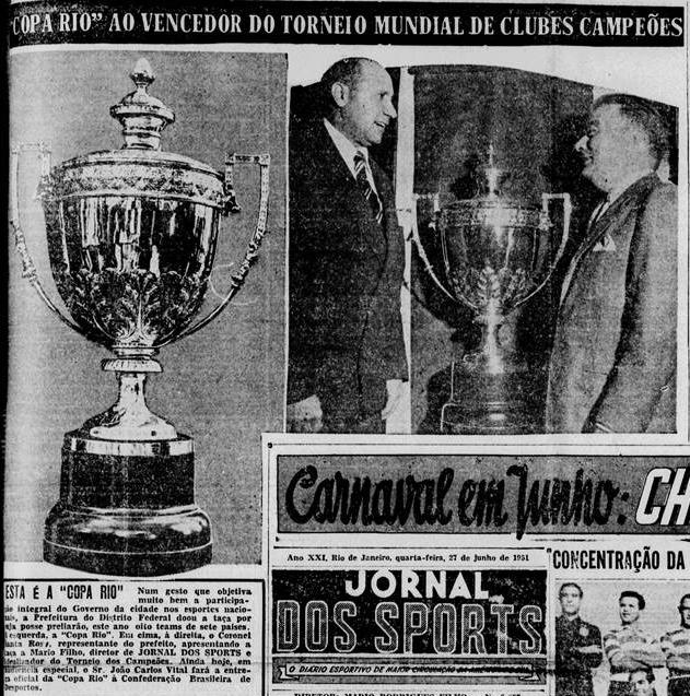 Torneio vencido pelo Palmeiras teve o vice-presidente da Fifa e o jornalista Mario Filho como protagonistas