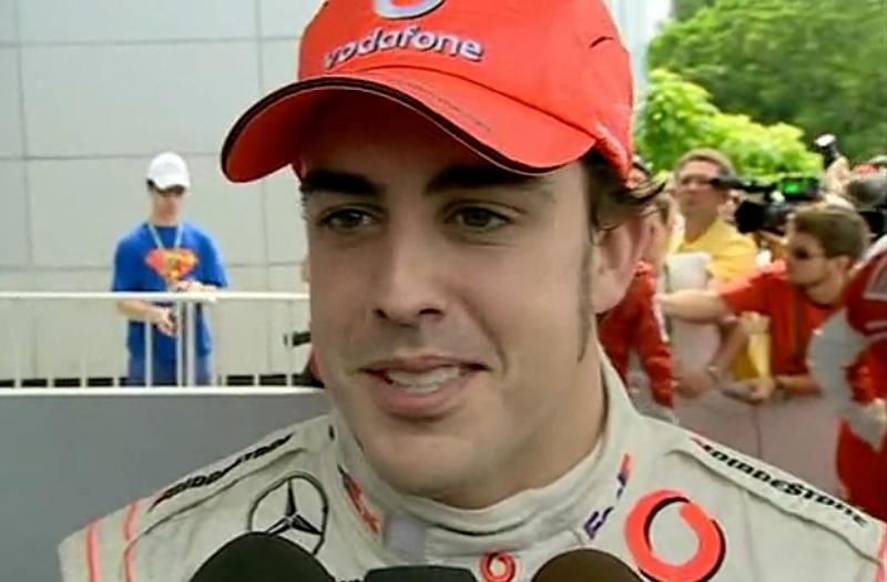 Espanhol tomou a dianteira do GP da Malásia de 2007 para ganhar em Sepang. Foto: Divulgação