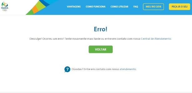 Comitê Rio-2016 reconheceu problemas no site de venda de ingressos em reposta a internautas no twitter