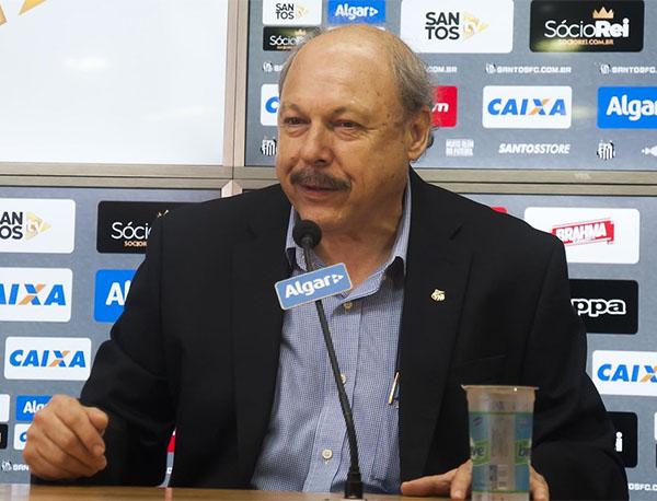 José Carlos Peres, Presidente do Santos. Foto: Ivan Storti/Santos FC